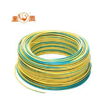 湖南华菱线缆ZR-BV6平方家庭装修电线电缆100米 黄绿双色