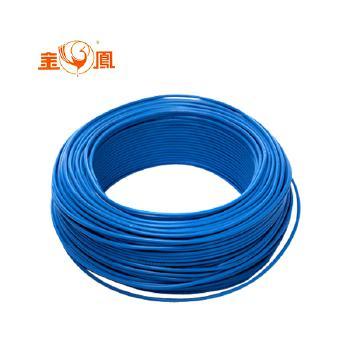 湖南华菱线缆ZR-BV6平方家庭装修电线电缆100米 蓝色