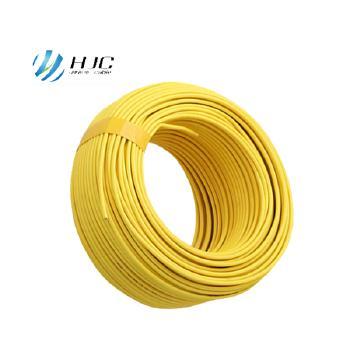 安徽鸿杰线缆BV4平方国标铜芯电线硬线100米 黄色