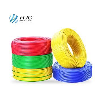 安徽鸿杰线缆BV4平方国标铜芯电线硬线100米 蓝色