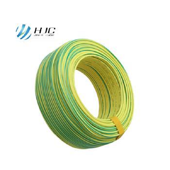 安徽鸿杰线缆BV4平方国标铜芯电线硬线100米 黄绿双色