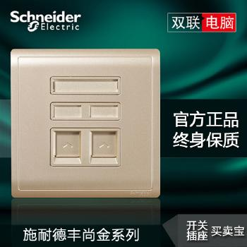 【施耐德】 插座 丰尚金系列 两位电脑插座