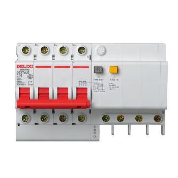 德力西 DZ47sLE 4P C型 小型漏电断路器 新款 红手柄 DZ47LE更新换代新品