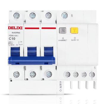 德力西 HDBELE-3P+N 小型家用漏电断路器