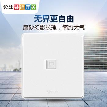 公牛开关 G18系列 一位电脑插座(白色)
