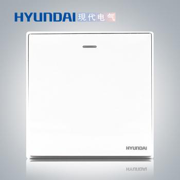 现代电气开关插座面板 A50系列珍珠白 一开 二开 三开 四开开关